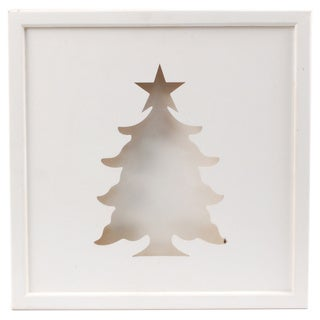 Wooden Illuminated Christmas Tree Art