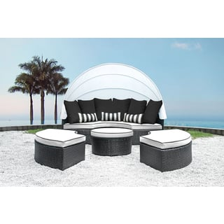 Solis Sombra 4-Piece White and Black Daybed|https://ak1.ostkcdn.com/images/products/13391671/P20088945.jpg?impolicy=medium