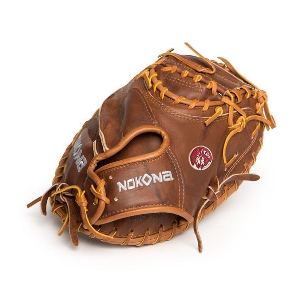 "Nokona Walnut Baseball Softball Catchers Mitt Glove Closed Web 33"" Right Handed Thrower / W-3300C/L"