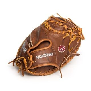 Nokona Walnut Brown Leather Left-handed Baseball Catchers Mitt