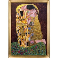 Klimt 'The Kiss' (Full View-Luxury Line) Hand Painted Oil Reproduction