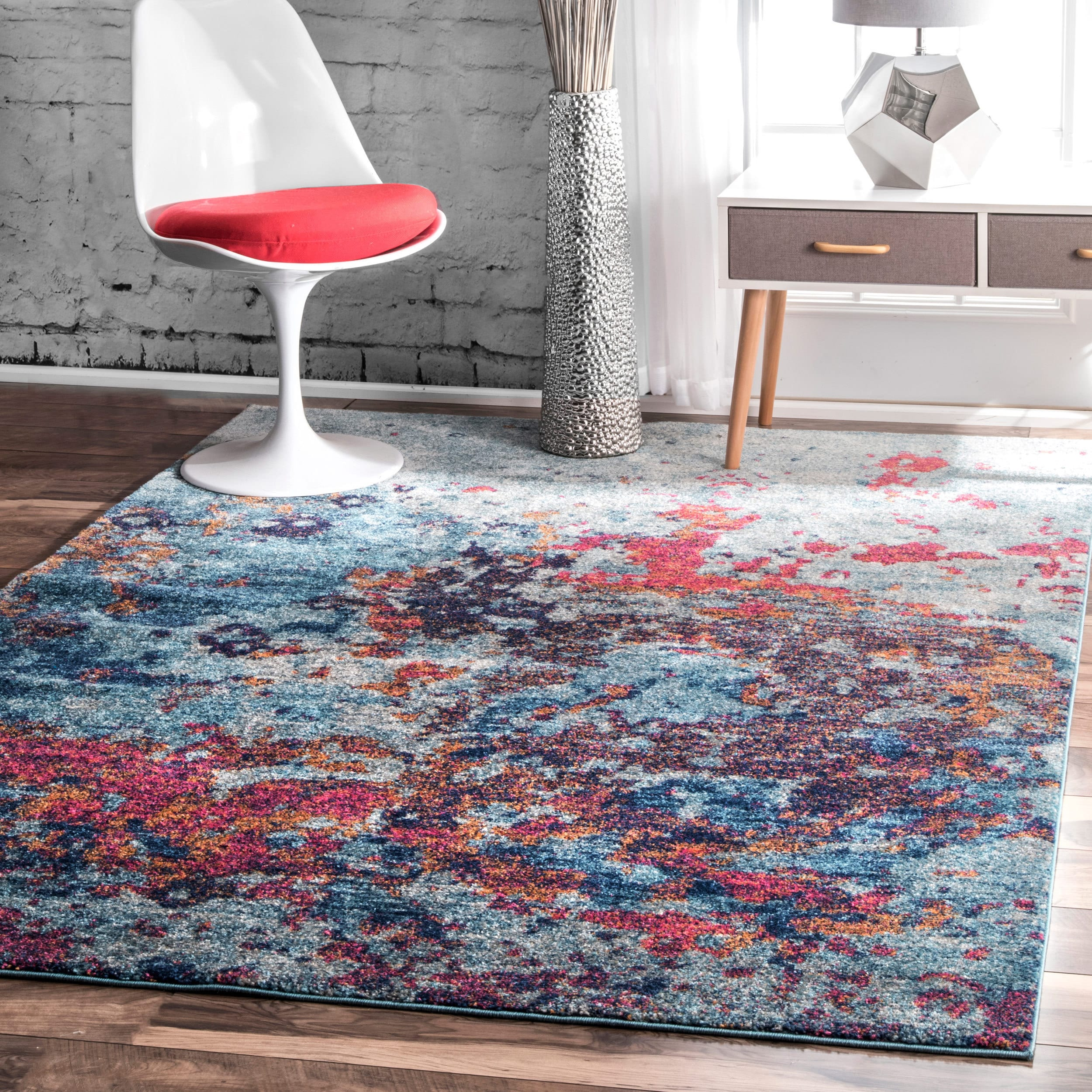 nuLOOM Contemporary Abstract Painting Multi Rug (5' x 7'5...