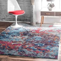nuLOOM Contemporary Abstract Painting Multi Rug - 5' x 7'5