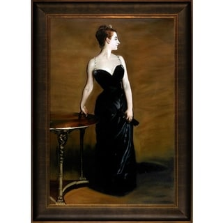 John Singer Sargent 'Portrait of Madame X' Hand Painted Framed Oil Reproduction on Canvas