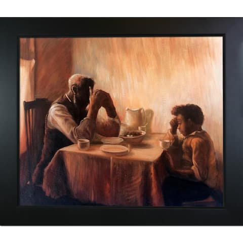 Henry Ossawa Tanner 'The Thankful Poor' Hand Painted Framed Oil Reproduction on Canvas