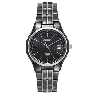 Seiko Men's Core Black Ion-plated Stainless Steel Watch