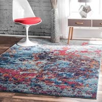 nuLOOM Contemporary Abstract Painting Multi Rug - 8' x 10'