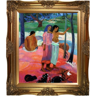 Paul Gauguin 'The Call, 1902' Hand Painted Framed Oil Reproduction on Canvas
