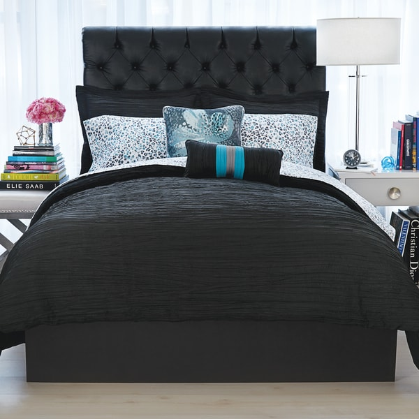 Christian Siriano Relaxed Crinkle Comforter and Pillow Sham Set