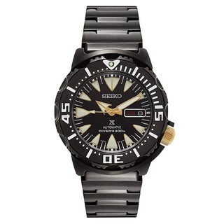 Seiko Men's Prospex Black Ion-plated Stainless Steel Watch