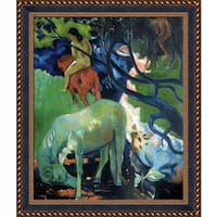 Paul Gauguin 'El Caballo Blanco (The White Horse), 1898' Hand Painted Framed Oil Reproduction on Canvas