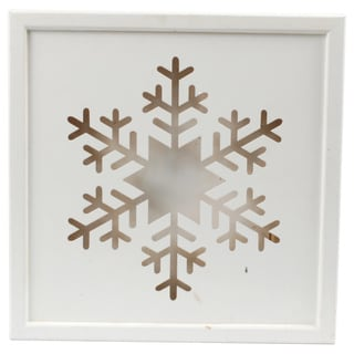 Wooden Illuminated Snowflake