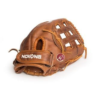 Nokona Walnut W-V1200H/R Brown Leather 12-inch Closed-web Left-handed Baseball/ Softball Glove