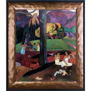 Paul Gauguin 'Olden Times (Mata Mua), 1892' Hand Painted Framed Oil Reproduction on Canvas
