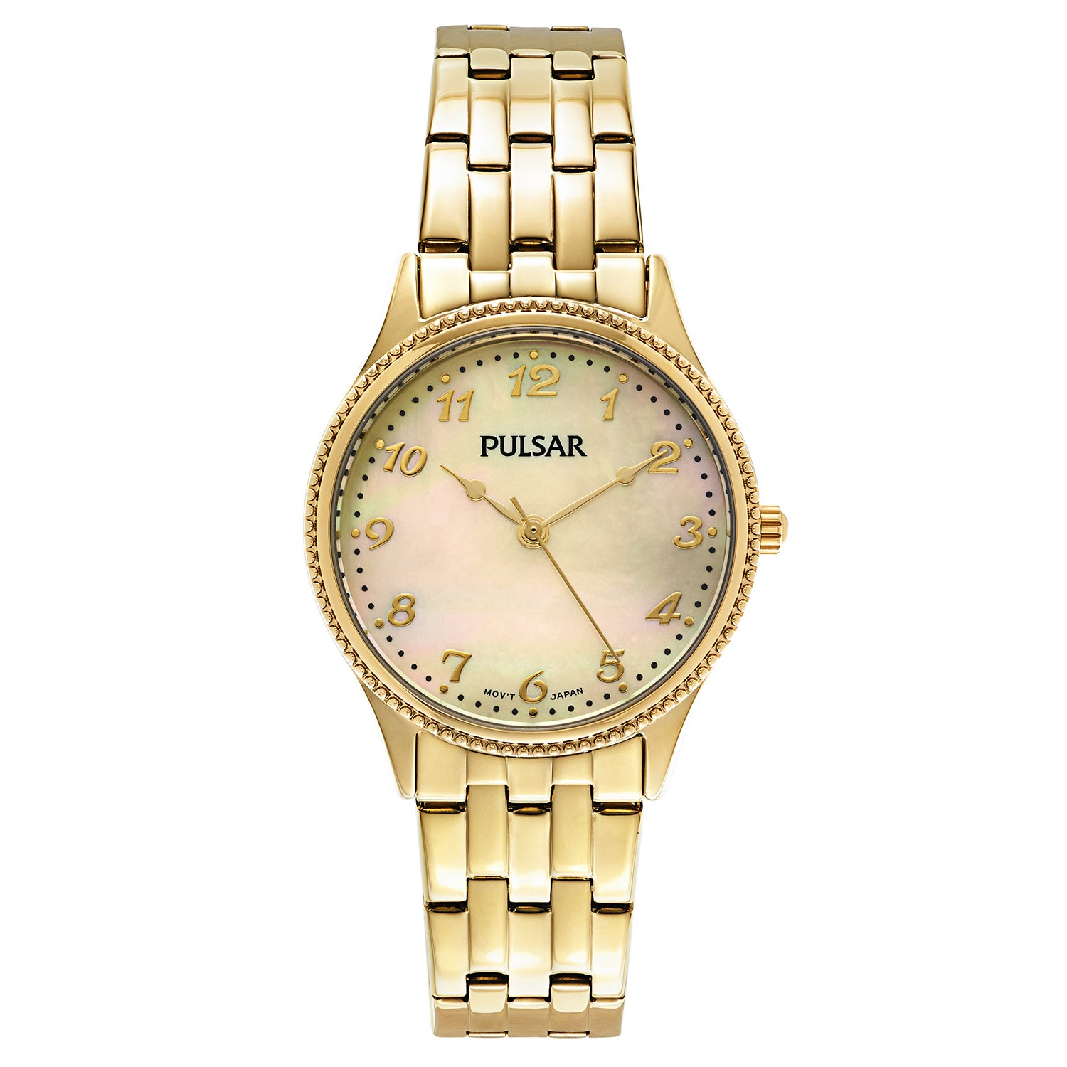 PULSAR Yellow Gold-plated Stainless Steel Japanese Quartz...