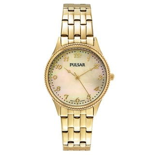 Pulsar Yellow Gold-plated Stainless Steel Japanese Quartz Women's Watch
