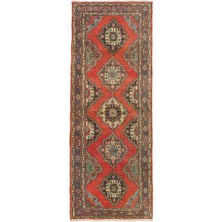 Ecarpetgallery Keisari Vintage Red Wool Rug (4'11 x 12'11)