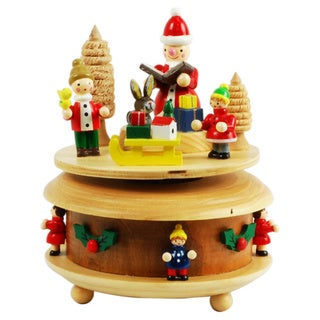 Wooden Christmas Music Box