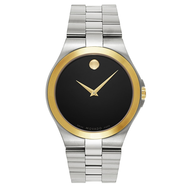 a169761a015 Shop Movado Men s 0606909 Silver-Tone Stainless Steel Swiss Quartz Watch -  Free Shipping Today - Overstock - 13391776