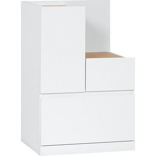 Voelkel Muto Collection Wooden Low L-shaped Storage Cabinet