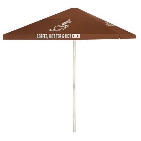 8 Foot Coffee Bar Patio Square Umbrella By Best Of Times