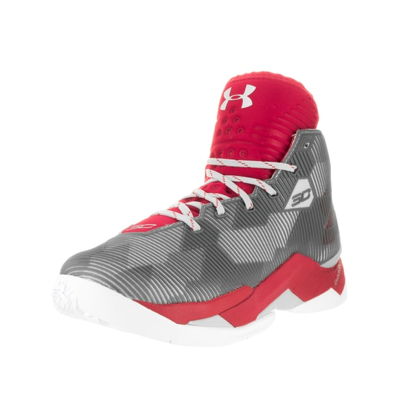 79ba0fdcdf51 Shop Under Armour Men s Curry 2.5 Red Alu Red Basketball Shoe - Free ...