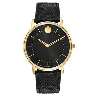 Movado TC Men's Stainless Steel Yellow Gold Plated Case Watch