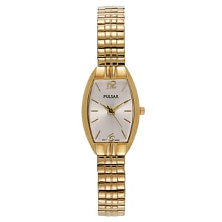 Pulsar Women's Traditional Yellow Gold-plated Stainless Steel Watch