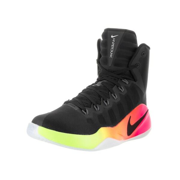 ff9563066110 Nike Men  x27 s Hyperdunk 2016 Black Black Pink Blast Volt Basketball Shoe