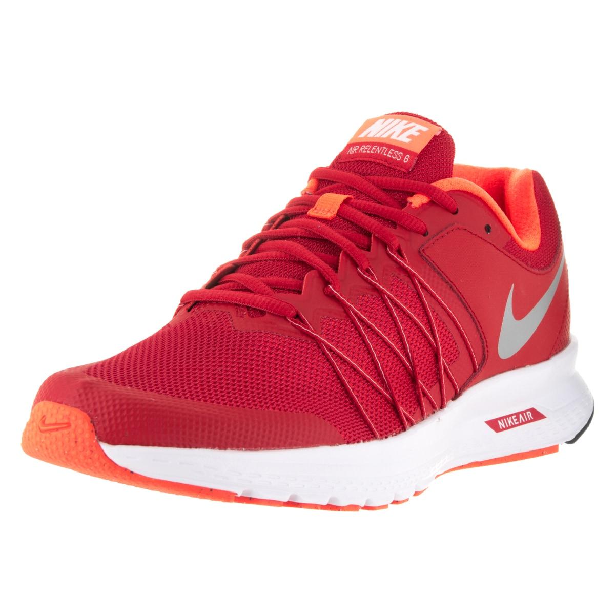 Nike Men's Air Relentless 6 University Red/Mtllc Slvr/Ttl...