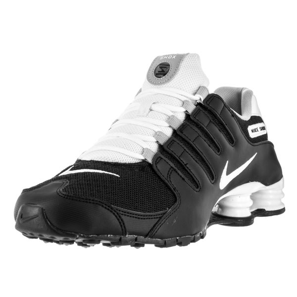 Shop Nike Men s Shox NZ SE Black White White Wolf Grey Running Shoe ... 0de9a11c4