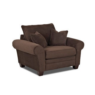 Made to Order Klaussner Furniture Kazler Brown Polyester Lounge Chair