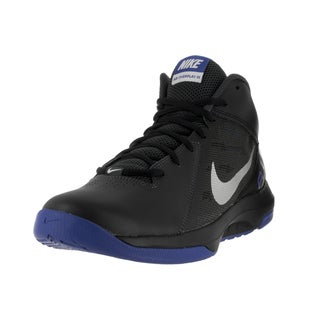Nike Men's The Air Overplay IX Anthrct/Mtllc Slvr Blk Gm Ryl Basketball Shoe