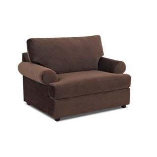 Made to Order Klaussner Furniture Briggs Chocolate Brown Polyester Big Lounge Chair