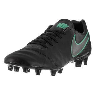 Nike Men's Tiempo Mystic V FG Black/Black Hyper Turq Soccer Cleat