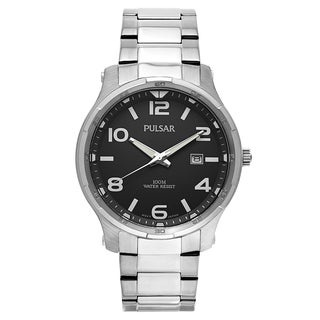 Pulsar Men's PS9337 Silvertone Stainless-steel Watch