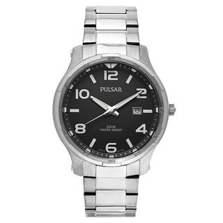 Pulsar Men's PS9337 Silvertone Stainless-steel Watch