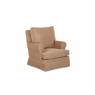Klaussner Furniture Gwinnett Tan Polyester Fabric Swivel Gliding Rocking Chair