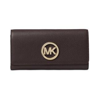 Michael Kors Fulton Coffee PVC Logo Carry-all Wallet
