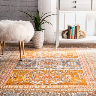 nuLOOM Bohemian Tribal Yellow Rug (5' x 7'5)