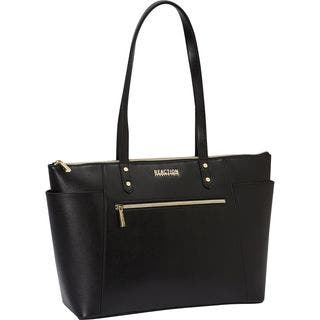 Kenneth Cole Reaction Saffiano Top Zip 15 6 Inch Laptop Business Tote Bag With Anti
