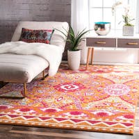 The Curated Nomad Kirkham Bohemian Abstract Multi Area Rug - 9' x 12'