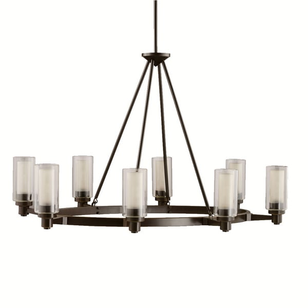 Kichler Lighting Circolo Collection 8-light Olde Bronze Oval Chandelier