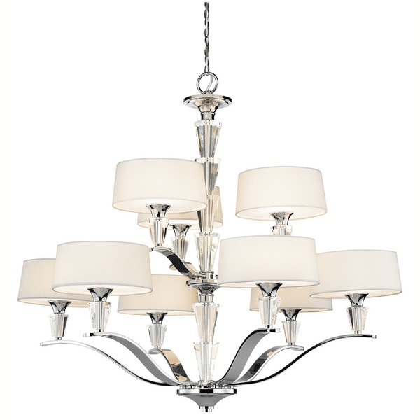 Kichler lighting crystal persuasion collection 9 light chrome chandelier