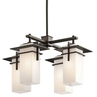 Kichler Lighting Caterham Collection 4-light Olde Bronze Indoor/Outdoor Chandelier