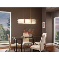 Kichler Lighting Moxie Collection 3-light Cambridge Bronze Linear Chandelier