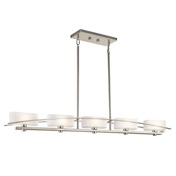 Kichler Lighting Suspension Collection 5-light Brushed Nickel Linear Chandelier - N/A
