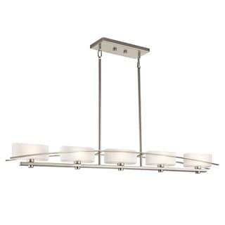 Kichler Lighting Suspension Collection 5-light Brushed Nickel Linear Chandelier