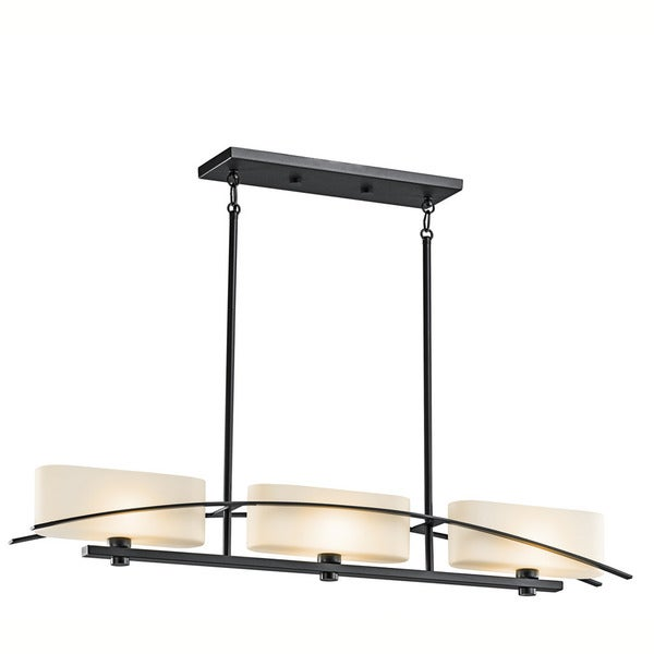 Kichler Lighting Suspension Collection 3-light Black Linear Chandelier