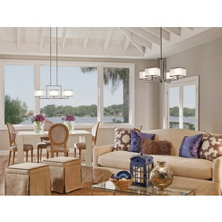 Kichler Lighting Kailey Collection 3-light Brushed Nickel Linear Chandelier